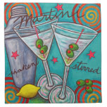 Retro Martini American MoJo Cocktail Napkin Set