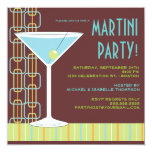 Retro Martini Cocktail Party Invitation