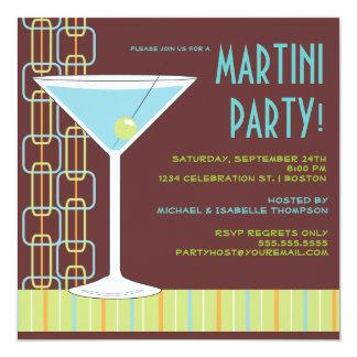 Retro Martini Cocktail Party Invitation