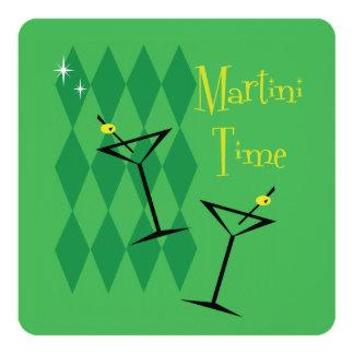 Retro Martini Cocktail Party Invitations