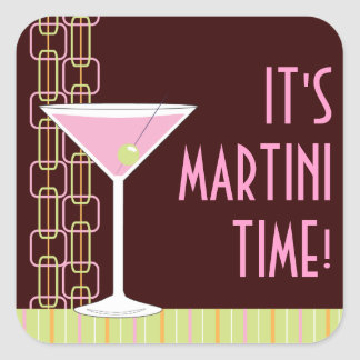 Retro Martini Cocktail Sticker