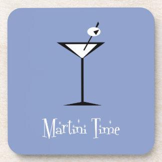 Retro Martini Beverage Coasters