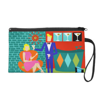 Retro Martini Couple Cosmetic Bag
