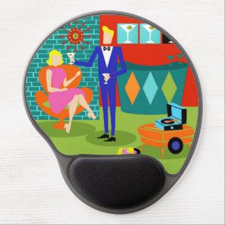 Retro Martini Couple Gel Mousepad