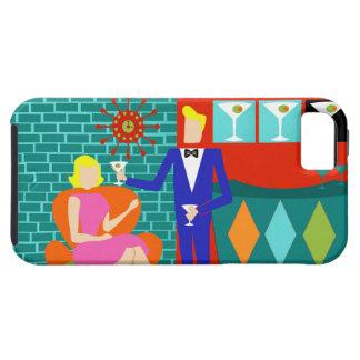 Retro Martini Couple iPhone 5/5S Case