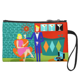 Retro Martini Couple Mini Clutch