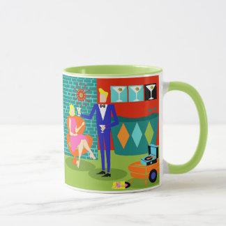 Retro Martini Couple Mug