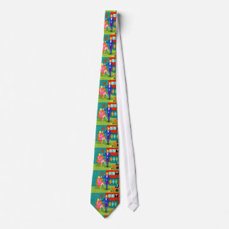 Retro Martini Couple Neck Tie