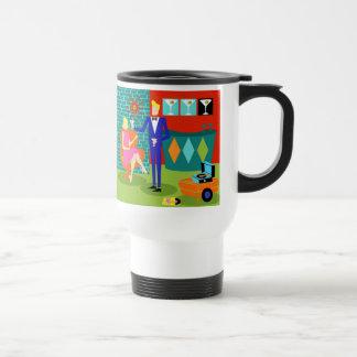Retro Martini Couple Travel Mug