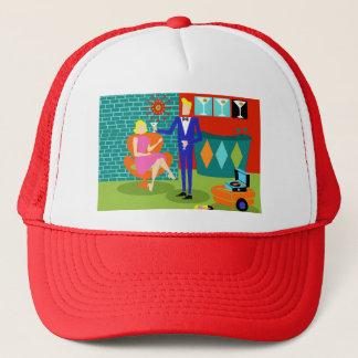 Retro Martini Couple Trucker Hat