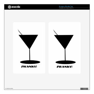 Retro Martini Glass Skins For Kindle Fire