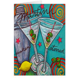 Retro Martini Greeting/Note Card