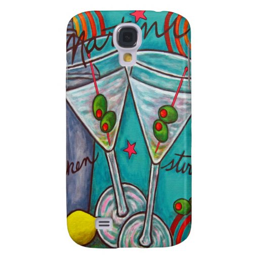 Retro Martini iPhone3 Case by Lisa Lorenz Samsung Galaxy S4 Cases