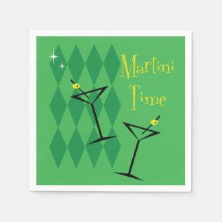Retro Martini Napkin