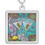 Retro Martini Necklace by Lisa Lorenz