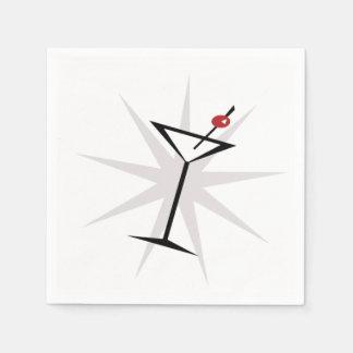 Retro Martini Standard Cocktail Napkin
