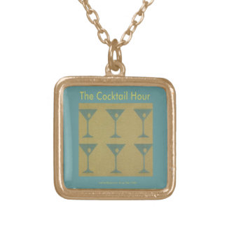 "Retro Martini ""The Cocktail Hour"" Necklace"