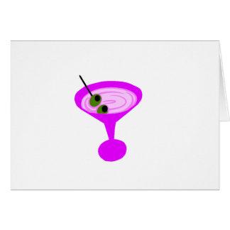 Retro Martini Time Card