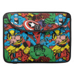 Retro Marvel Heroes Color Pattern Sleeve For MacBooks