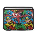 Retro Marvel Heroes Color Pattern MacBook Sleeves