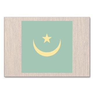 Retro Mauritania Flag Table Card
