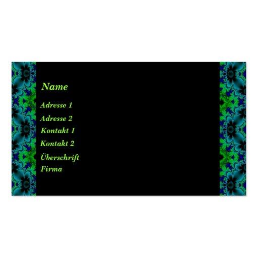 Retro mayas en verde azul negro tarjetas de visita