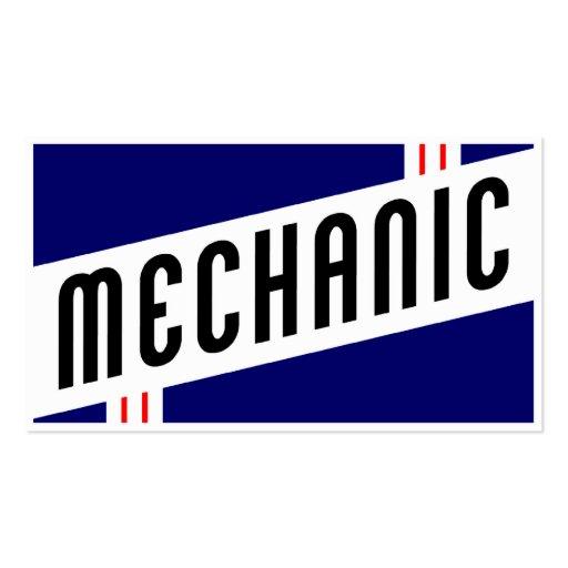 retro mechanic business card