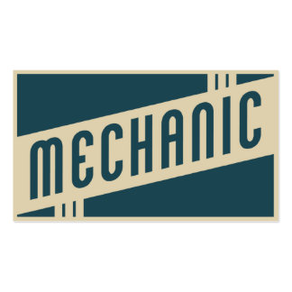 retro mechanic Double-Sided standard business cards (Pack of 100)