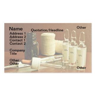 Retro medicaments business card
