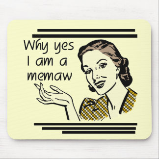 Retro Memaw T-shirts and Gifts Mouse Pad