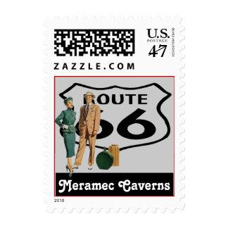 Retro Meramec Caverns MO Promo Route 66 Vintage Postage
