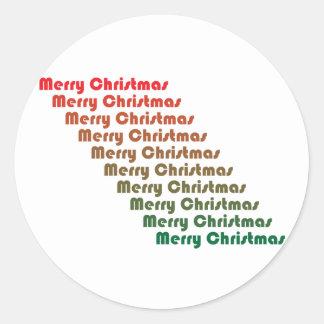 Retro Merry Christams Sticker