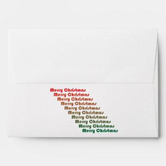 Retro Merry Christas Envelope