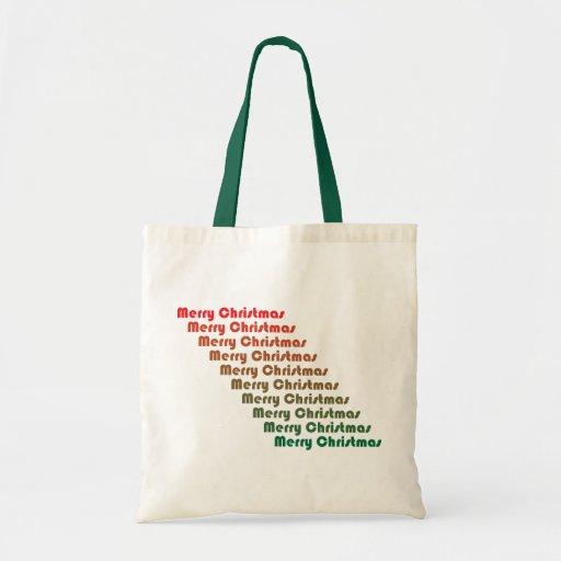 Retro Merry Christmas Bag
