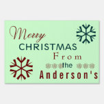 Retro Merry Christmas Lawn Sign
