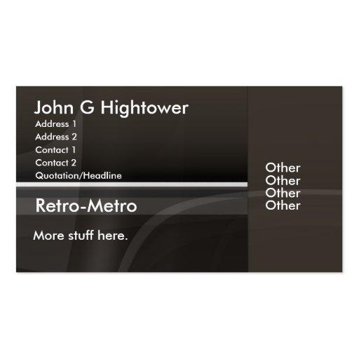 Retro Metro Collection Business Card