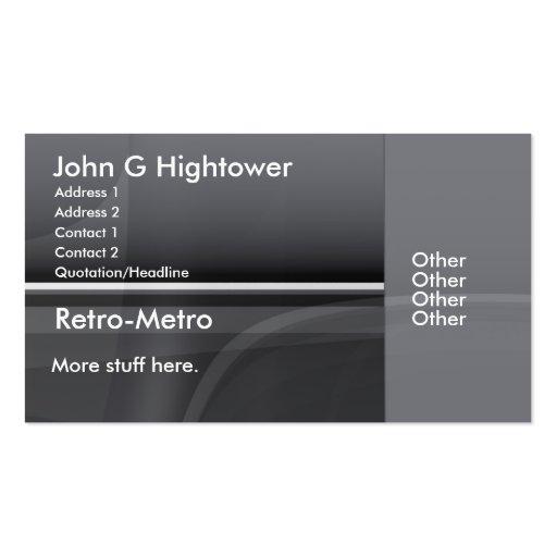 Retro Metro Collection Business Card Templates