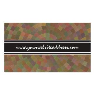 Retro Metro Geometric Spiral Pattern Business Card