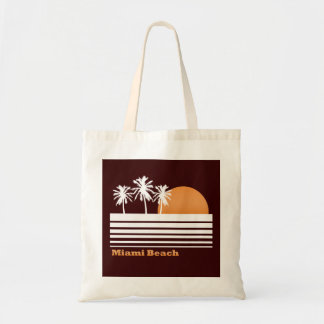 Retro Miami Beach Canvas Bag