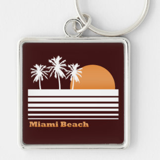 Retro Miami Beach Keychain