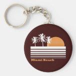 Retro Miami Beach Keychain