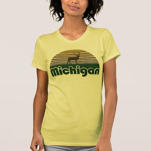 Retro Michigan Deer T Shirt Zazzle