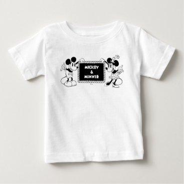 Disney Themed Retro Mickey & Minnie Baby T-Shirt