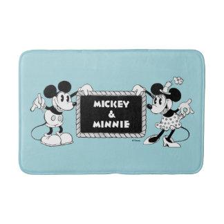 Retro Mickey & Minnie Bath Mat