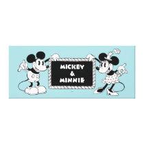 Retro Mickey & Minnie Canvas Print