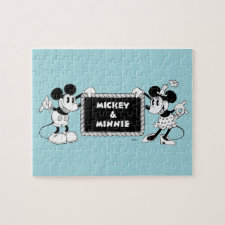 Retro Mickey & Minnie Jigsaw Puzzle