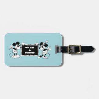 Retro Mickey & Minnie Luggage Tag
