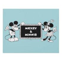 Retro Mickey & Minnie Panel Wall Art