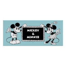 Retro Mickey & Minnie Poster