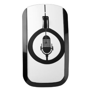 Black Icon Wireless Mouse for Computers & Laptops | Zazzle
